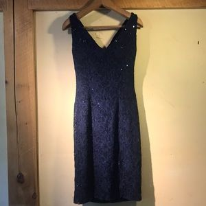 Lauren Ralph Lauren Dresses - LAUREN RALPH LAUREN - navy lace and sequined
